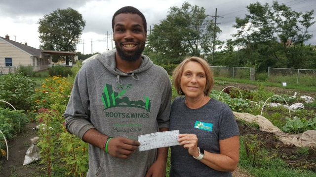 Check delivered to Roots & Wings