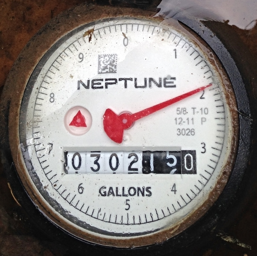 Reading my Meter & checking for leaks — Gulf Utility Service