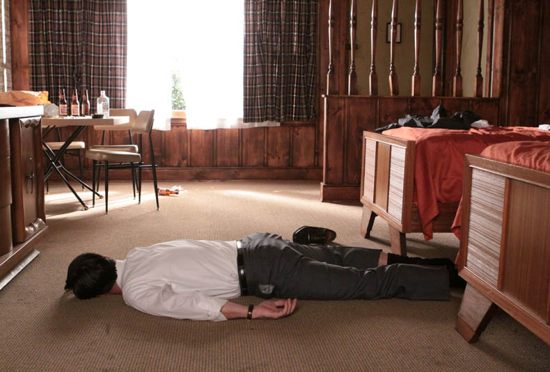 This is from the same episode of Mad Men. If at some point of the childbirth experience you end up like this, something went really, really wrong.