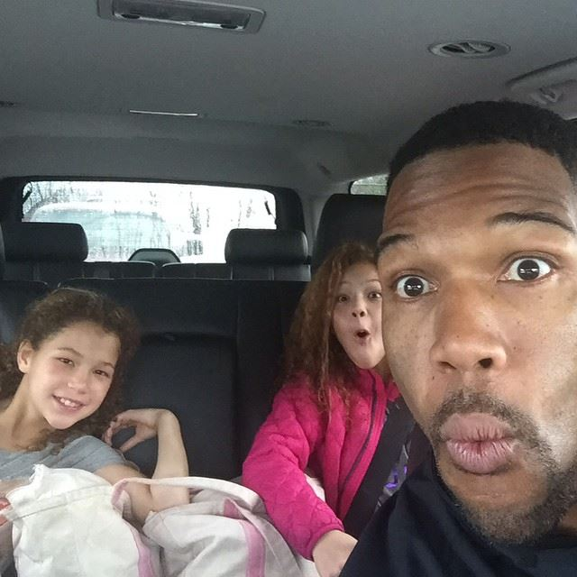See, Michael Strahan has twin girls, I have twin girls.The same. You might as well give me his Super Bowl ring. (Photo:  Michael Strahan Facebook )