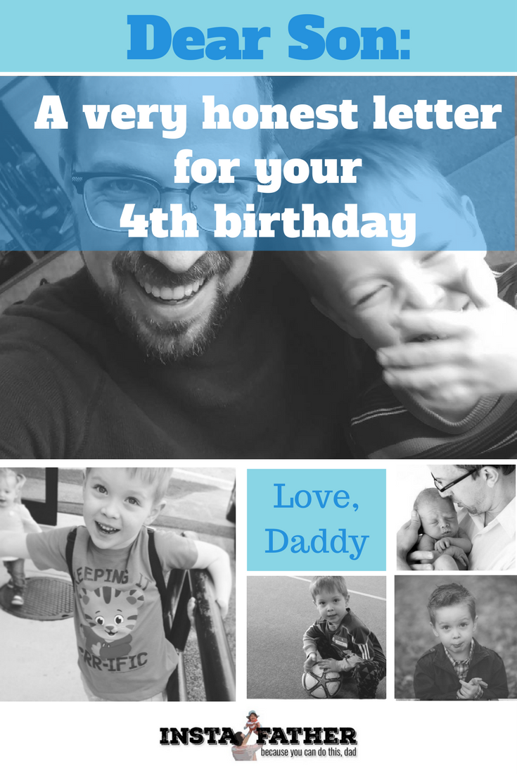 Four birthdays in and I'm still learning something new every day as a dad. Here's some honest talk to my four-year-old.   instafather.com
