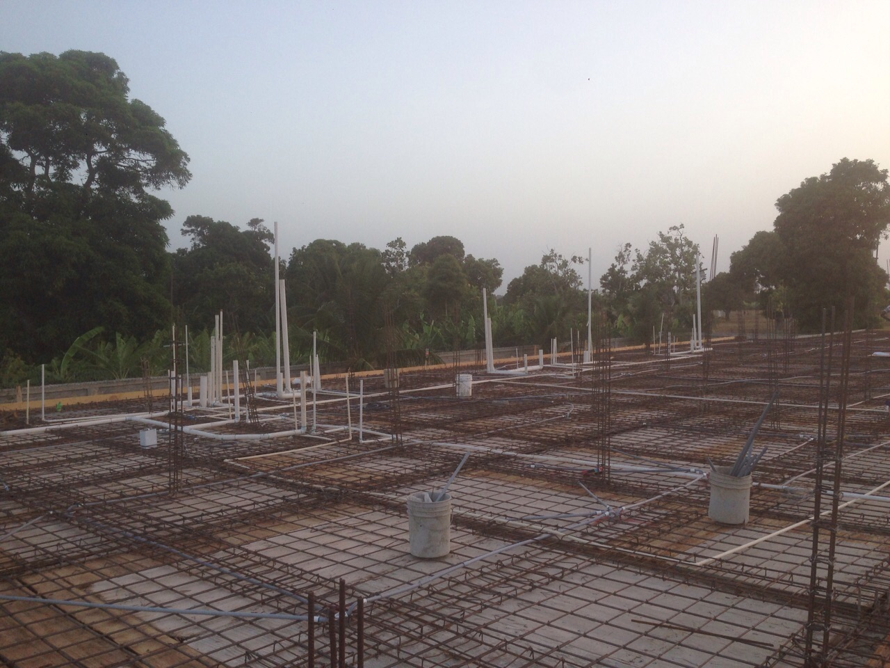 Guesthouse roof construction