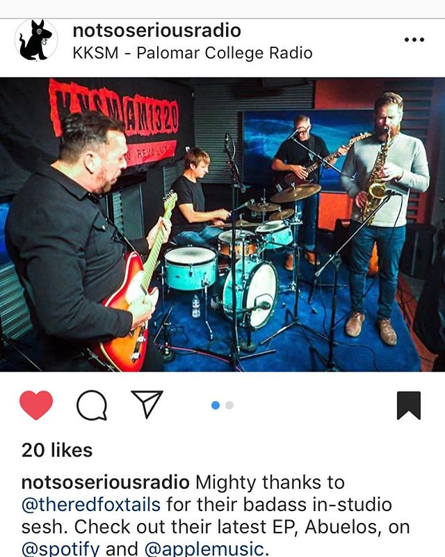 Thanks to @notsoseriousradio and @kksmradio for a fun night! Next gig Wednesday 2.6 at @sevengrandsd #indiejazz #surf #rocknroll #groove #sandiego #originalmusic #donthavetherepostapp