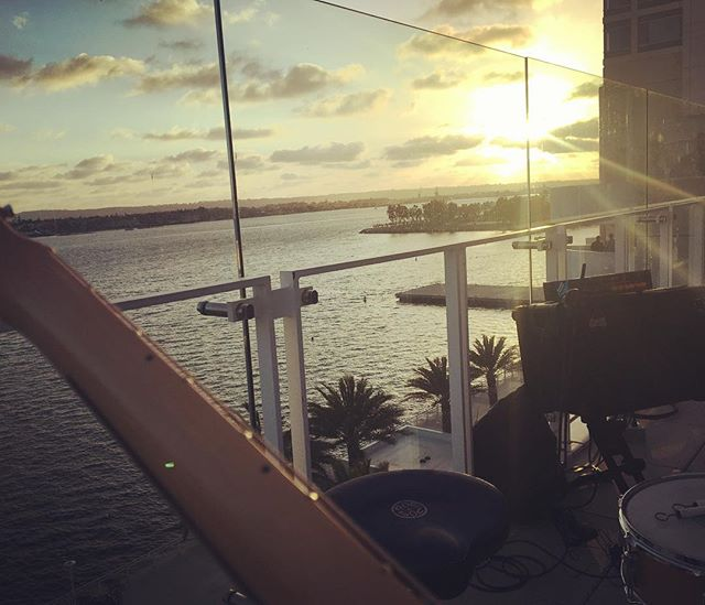 Not a bad spot for a gig...#sandiego #livemusic #sunset #fender #originalmusic #socal #pacific