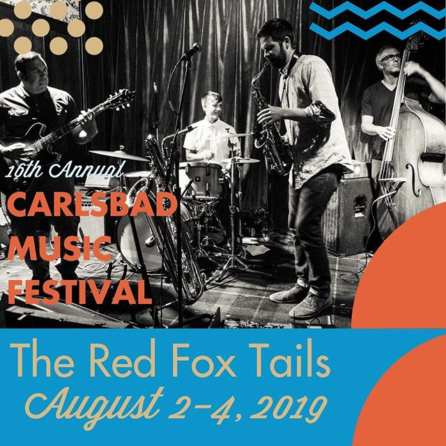 One of our favorite festivals, coming up soon! #stoked @cbadmusicfest we play August 3 at 7pm. So many great musicians playing all three days! #carlsbad #california #originalmusic #adventurousmusicbythebeach
