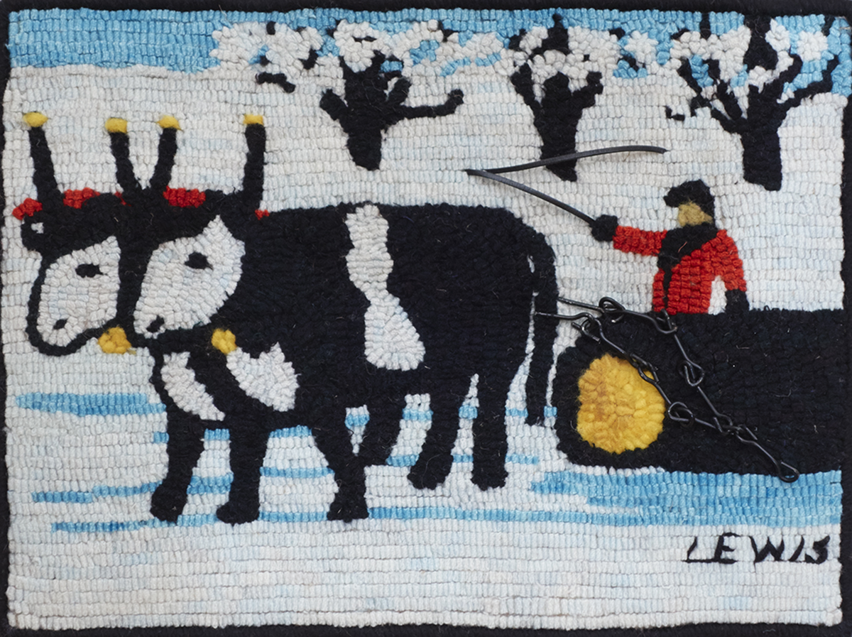 Winter Hauling, A Maud Lewis Adaptation  Barbara Lukas,  www.barbaralukas.com   Licensed by the Art Gallery of Nova Scotia   Published OHCG Newsletter, Winter 2014