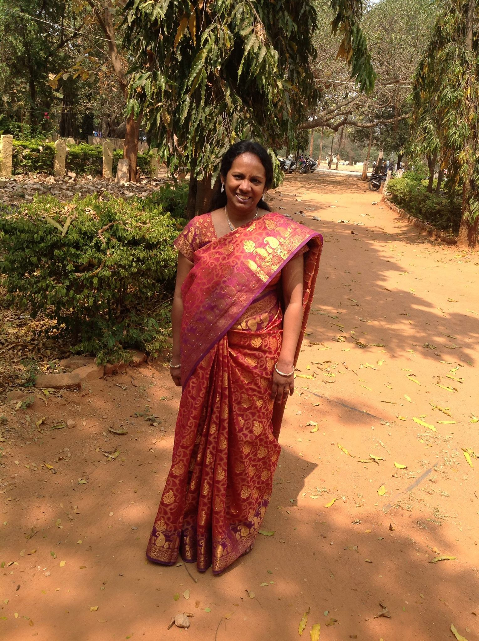 Stuti, founder of the helping hands sewing project.