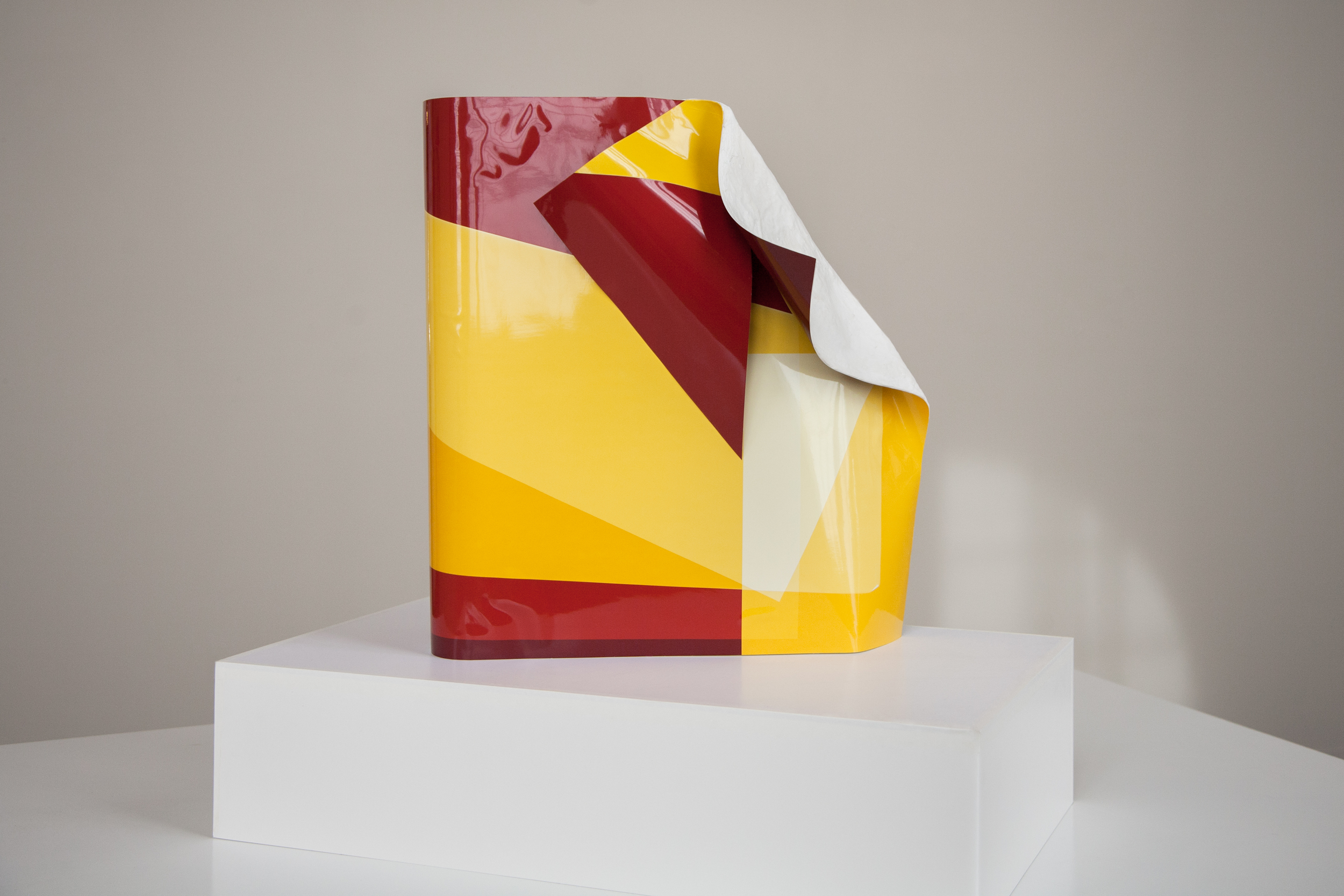 April Friges,  Untitled Color 3315 , 2015, 20 x 24 x 8.75 in., three unique color darkroom prints assembled together with polymer gypsum.