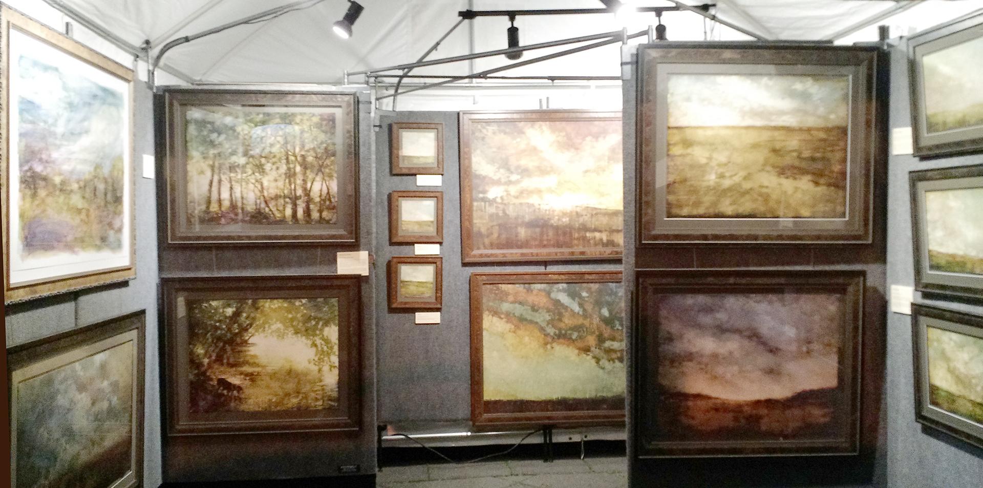 Nicole Renee Ryan's paintings under the big tent, 2015.