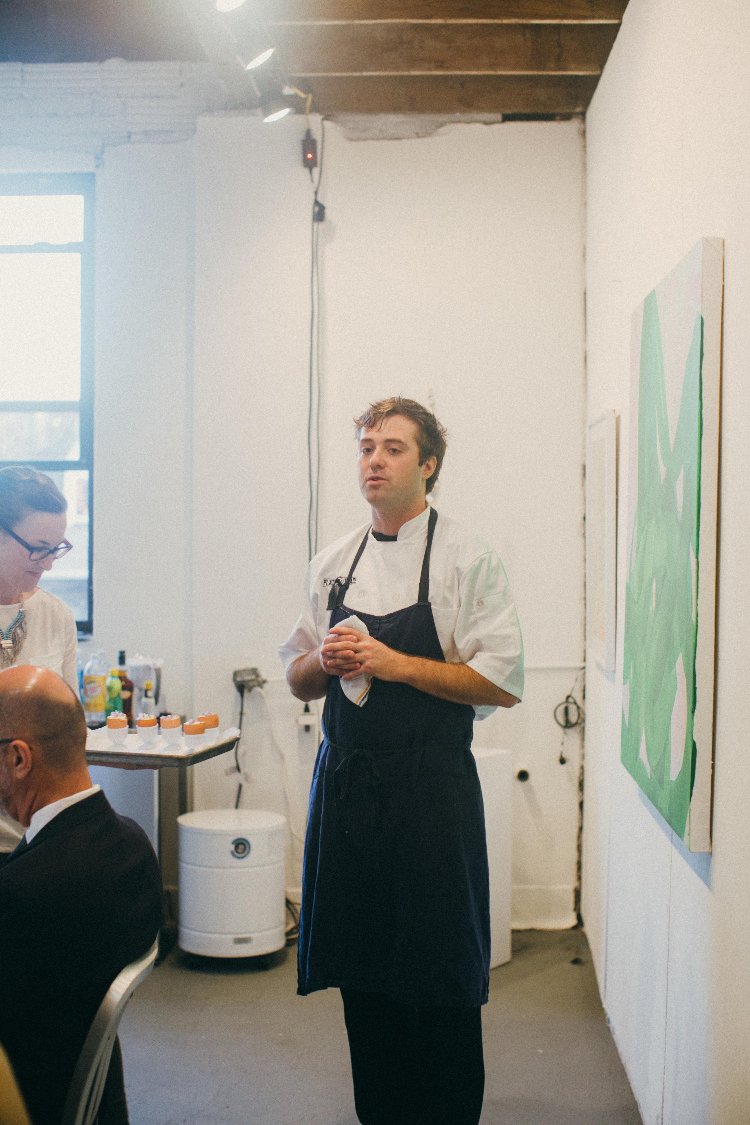 Chef David Bullman at our inaugural Studio Dinner, May 2016. Photo: Ben Filio.