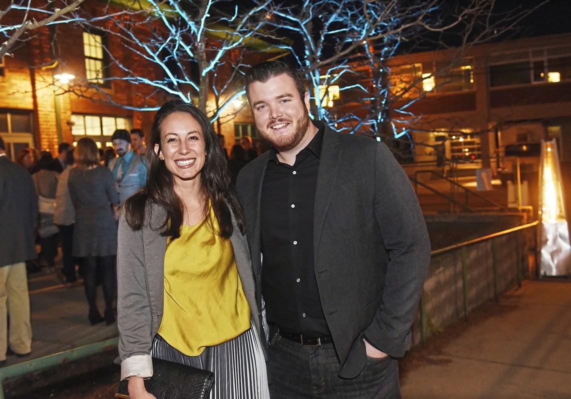 Hayley Haldeman and Ryan Lammie, co-hosts of Radiant Hall's Five Year Anniversary Celebration. Photo credit John Heller/Post-Gazette.