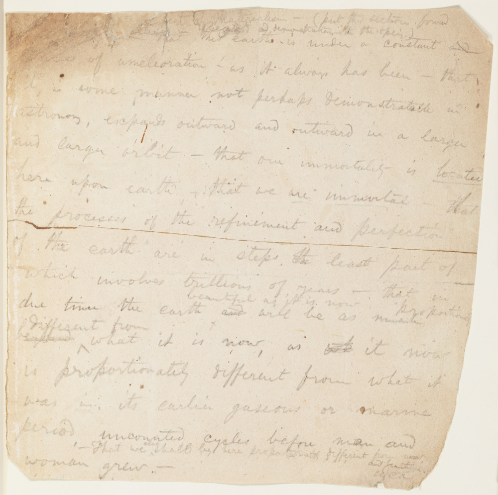 Science: Manuscript (Notes on science and evolution)