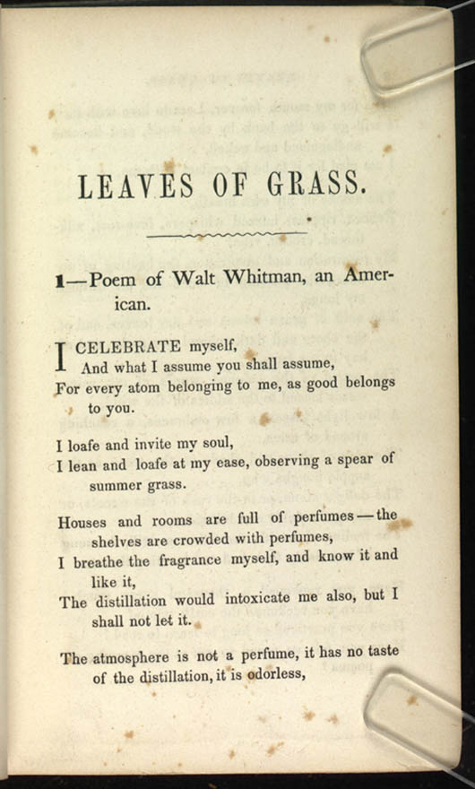 Title and Revision: 1856 (Poem of Walt Whitman)