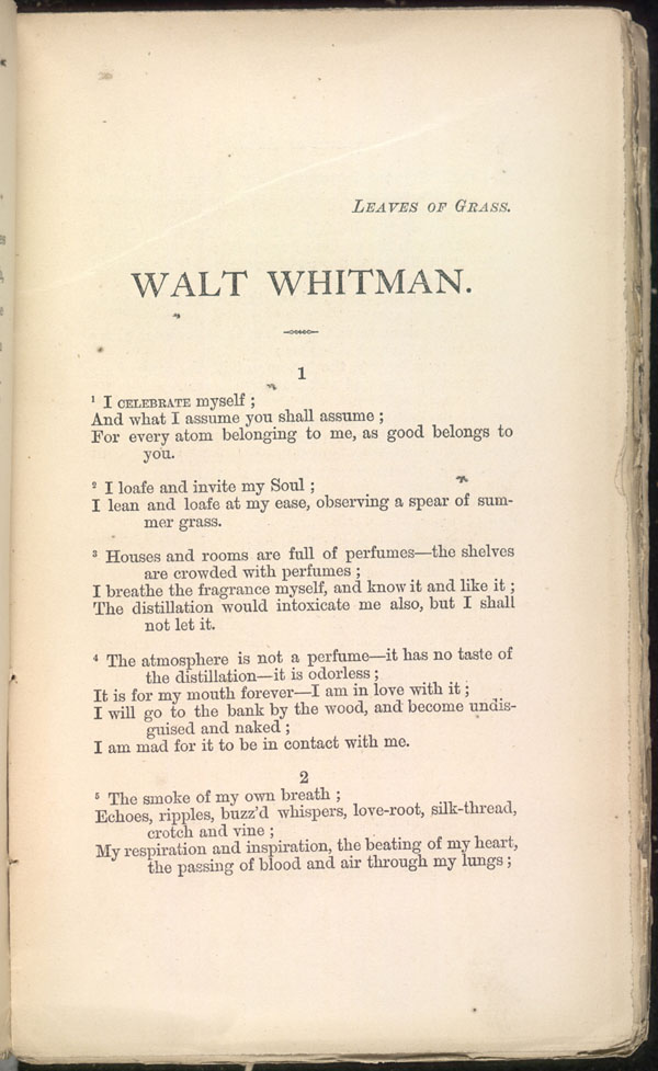 Title and Revision: 1871 (Walt Whitman)