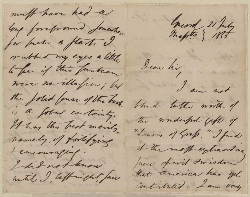 Beginning of the Poem: Emerson Letter I