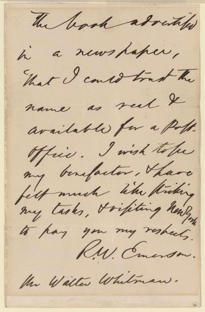 Beginning of the Poem: Emerson Letter II