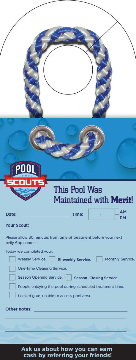 Pool Scouts | Doorhanger