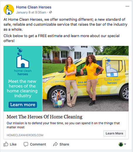 Home Clean Heroes   Facebook Ads