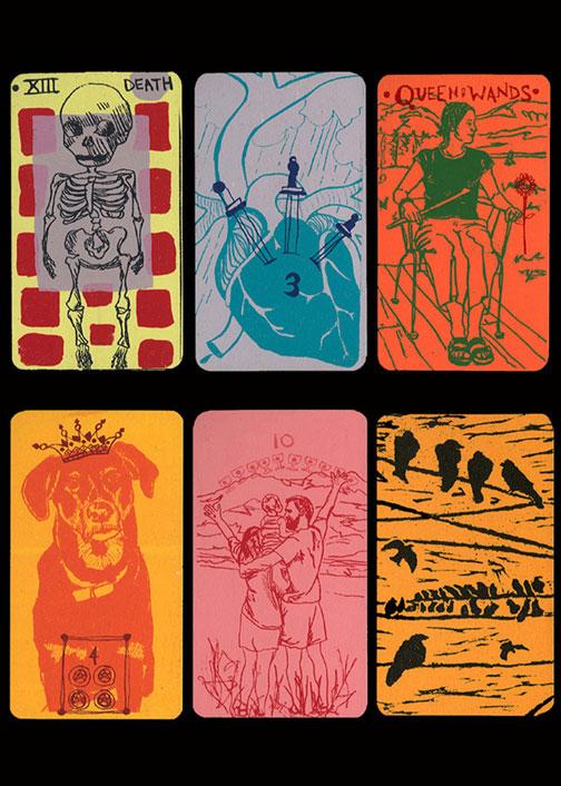 Tarot cards, screenprint