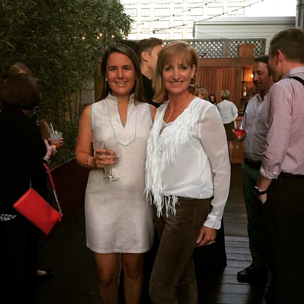 Tracy & Jennifer (founder and designer of Sail to Sable) @ the Spring 2016 collection cocktail.