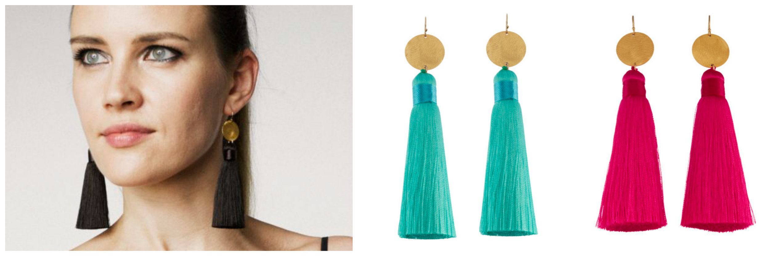 Tassels extremely in-style this spring and fall season. Bring contemporary style into your outfit in this relaxed look by pairing fun accessories with your everyday wardrobe.