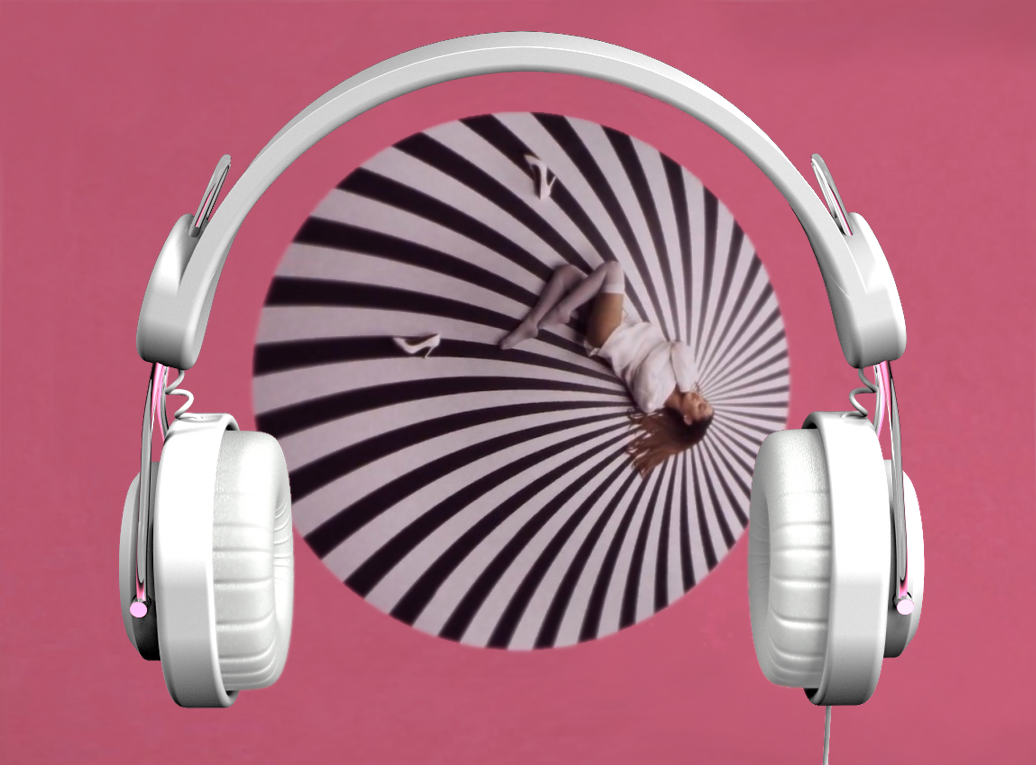 Headphones inspired by a pop video