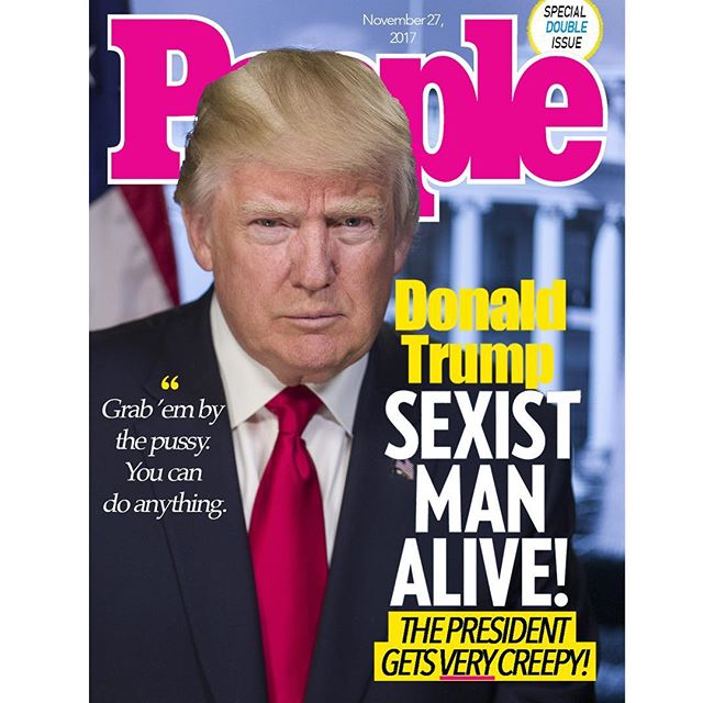@realdonaldtrump is this year's #sexistmanalive! 👀🔥😍 And most importantly, he 'can't wait' to stick it to North Korea's Supreme Leader #kimjongun #sexiestmanalive #blakeshelton @blakeshelton @people #peoplemagazine #memes #unitedstatessupremeleader #iusuallydontdothis #grabembythepussy #trump #donaldtrump #funnymemes
