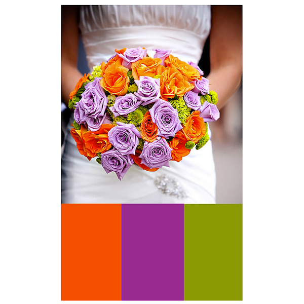 Notice how all three colors are equally spaced apart on the color wheel (count three)?  Photo Credit