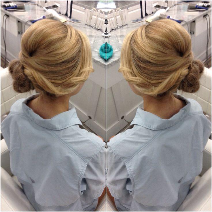 This Uptowner side bun is a unique, modern twist. | Hair:  Bleu, a Blowdry Bar  |  Photo Credit