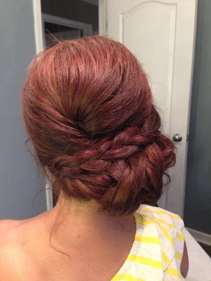 I love how this side bun up-do is relaxed, yet classy. Perfect for a summer wedding. Hair:  Dazzle Doll Makeup and Hair  |  Photo Credit