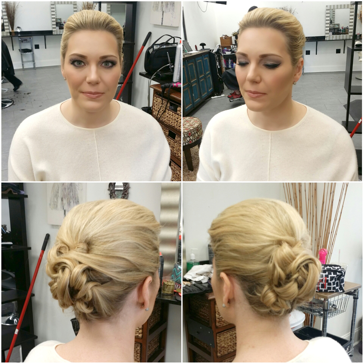 Sophisticated and simple in front, with gorgeous detailing in the back. | Hair by  Beauty and Brains Design  |  Photo Credit