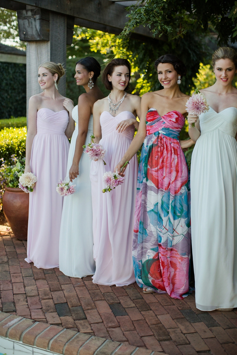 Let your Maid of Honor stand out by incorporating a pattern that compliments your chosen color palette for your bridesmaids. |  Photo Credit  via  The Every Last Detail