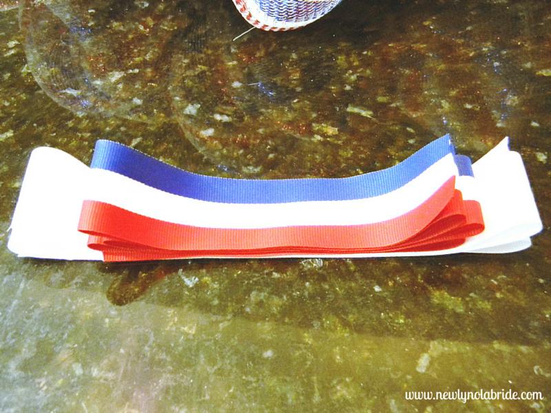DIY patriotic, Memorial day, Labor day, 4th of July wreath.  Easy to make!