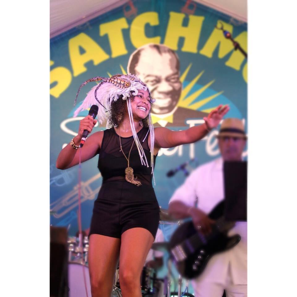 Robin Barnes singing at Satchmo Fest 2013 | Photo Credit: Kim Welch