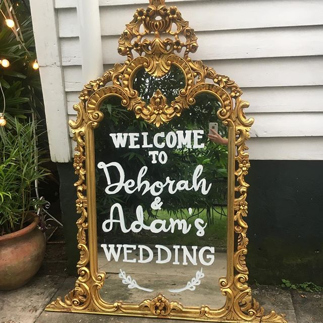 That's a wrap on wedding #2! Deborah and Adam are married!