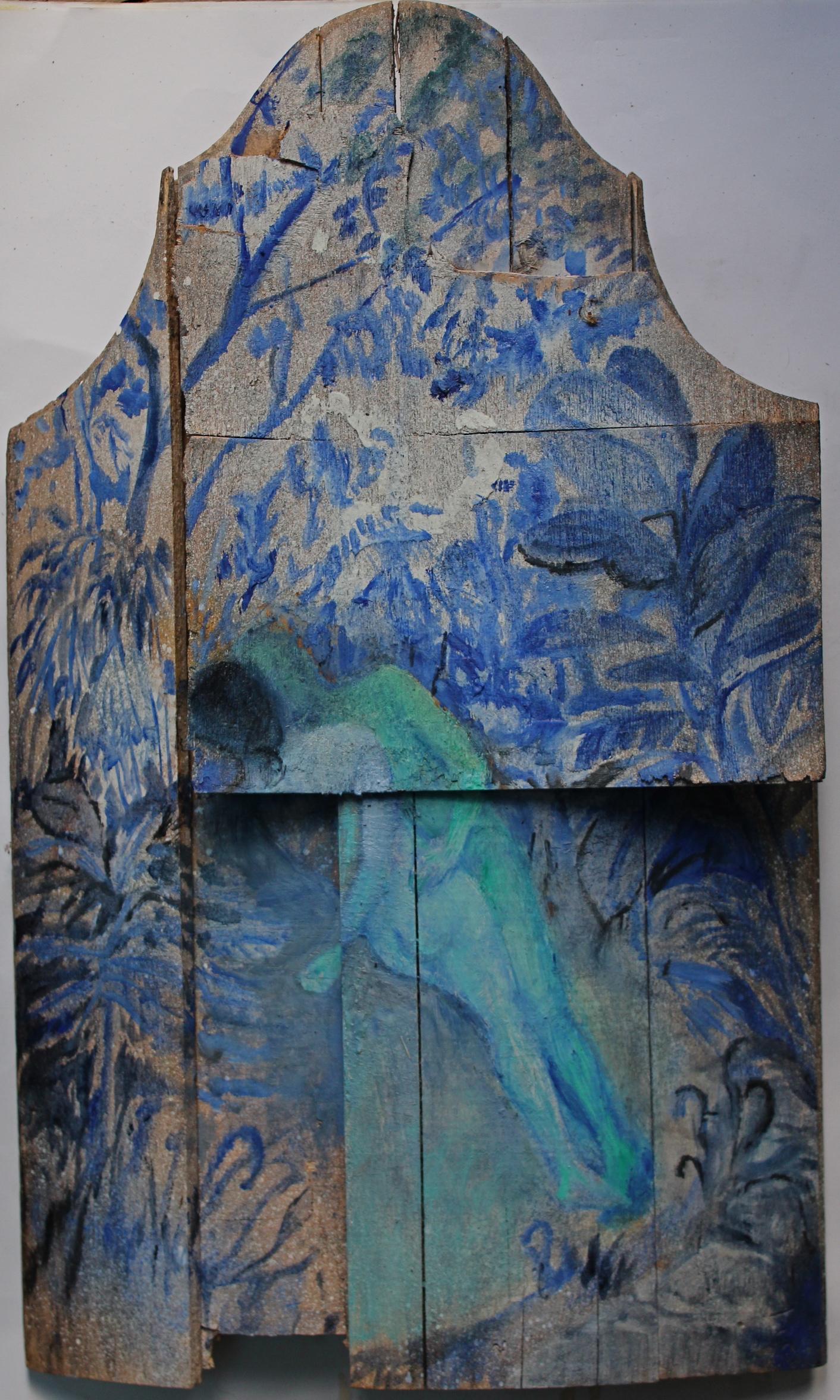 Blue garden( with green man)