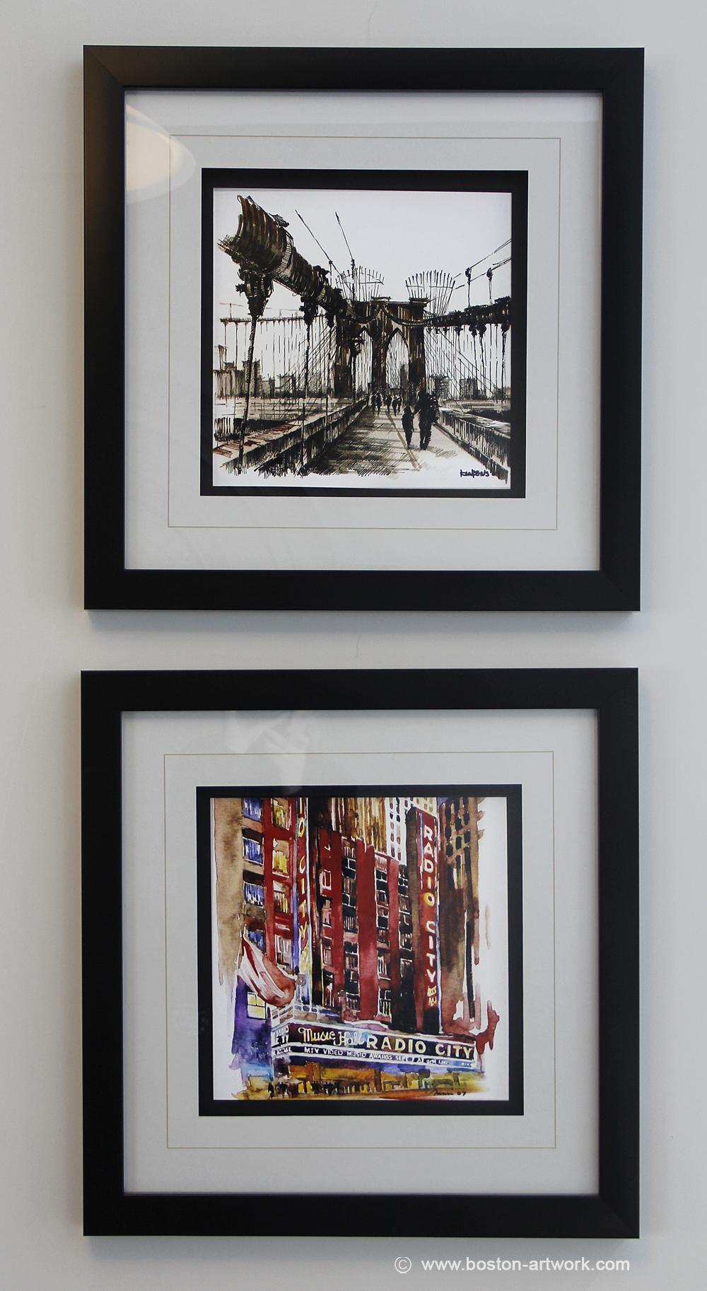 custom frames of new york art prints