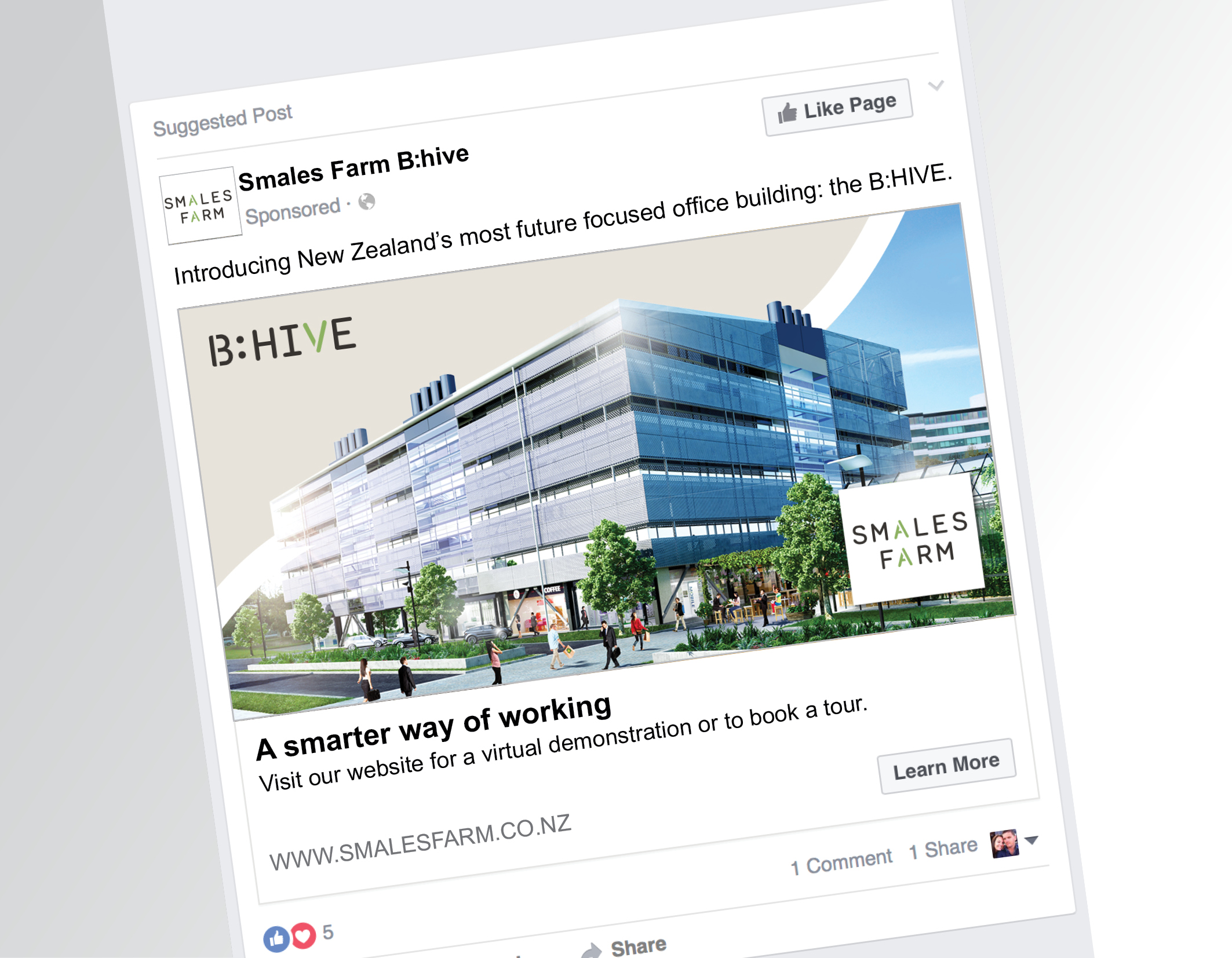 SMALES FARM   Positioning and marketing a building that breaks the rules