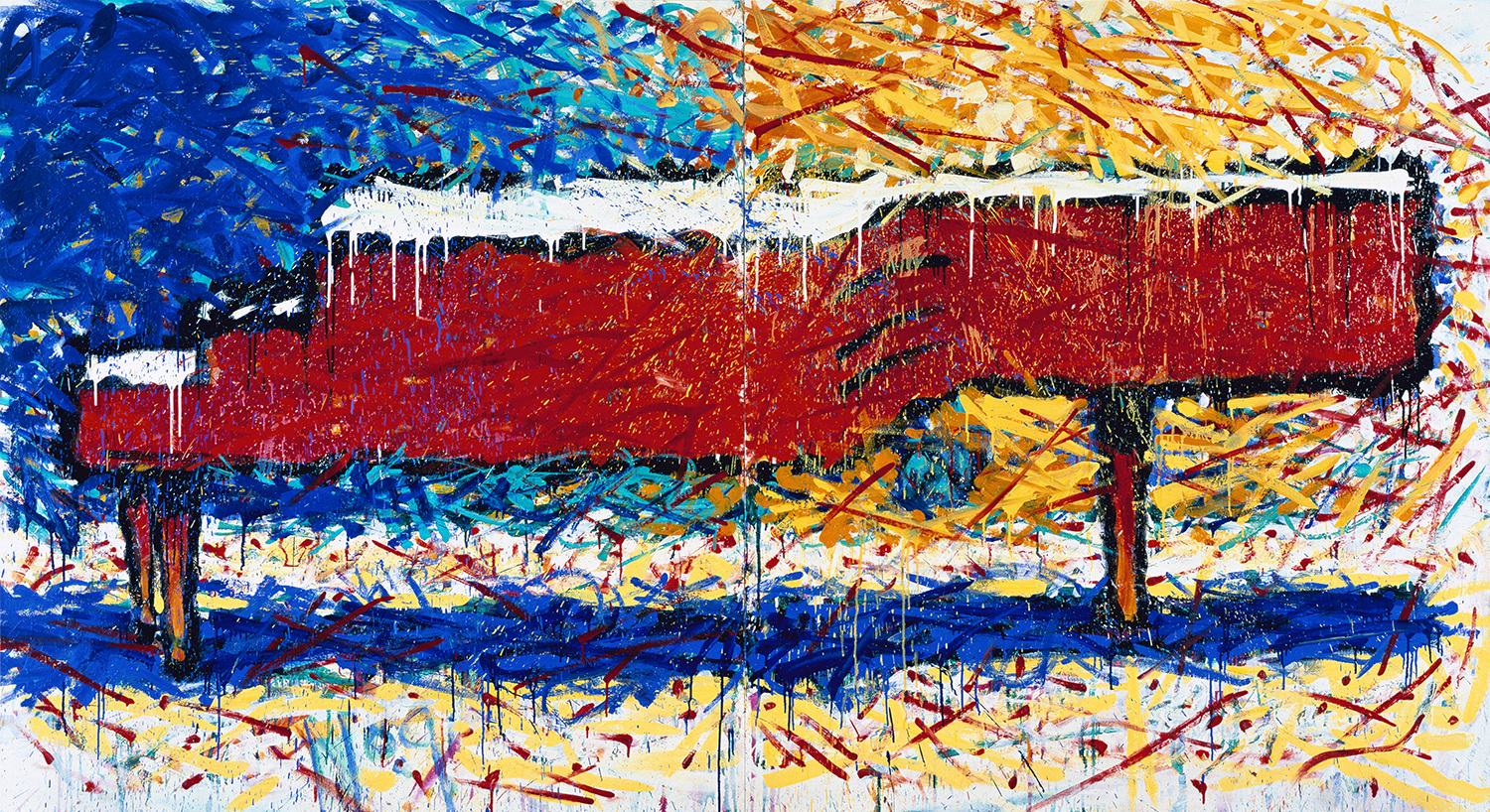 Piano No. 9 | oil and varnish on canvas | 72″ x 128″ | 1994