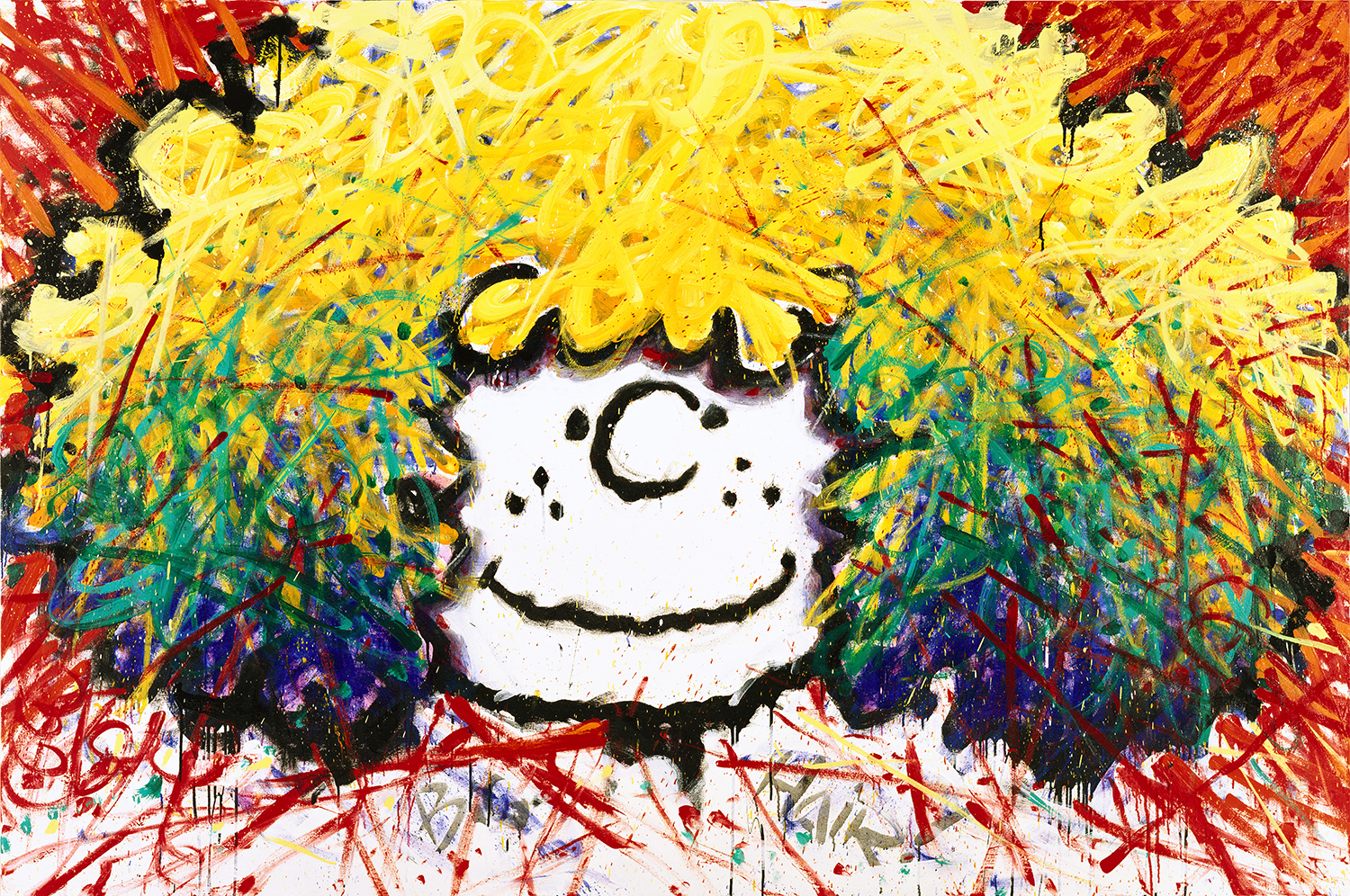 Big Hair (Patty's Wig) | oil and enamel on canvas | 64″ x 96″ | 1995