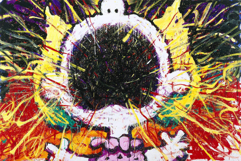 Big Loud Screaming Blonde | oil on canvas | 64″ x 96″ | 1996