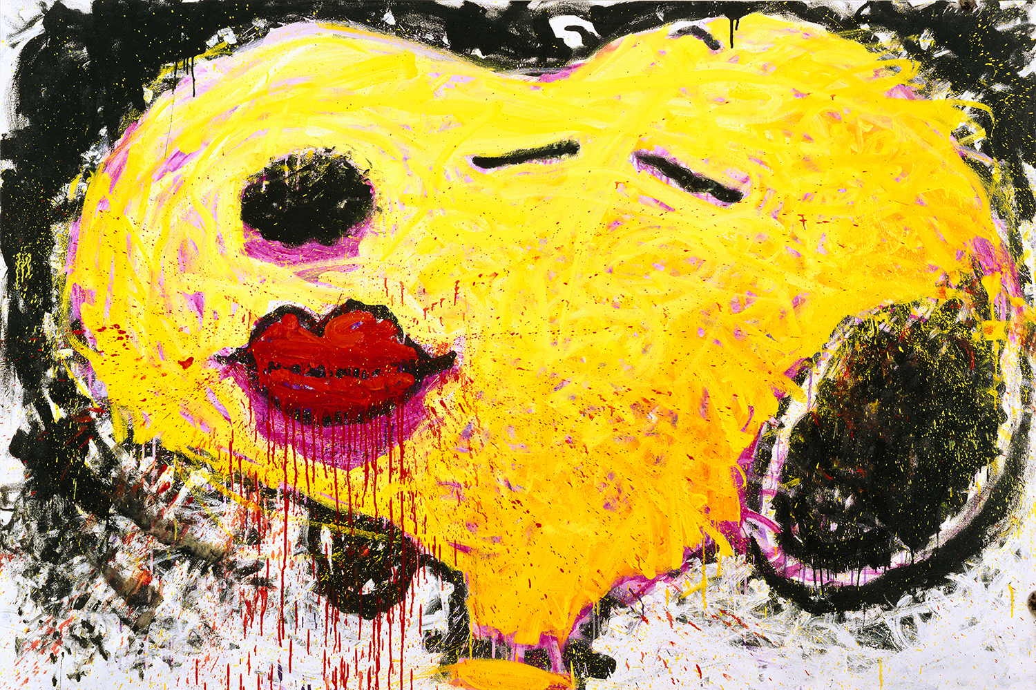 Dog Lips | oil and varnish on canvas | 64″ x 96″ | 1996