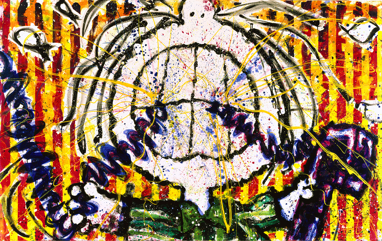 Snapped | oil and enamel on canvas | 64″ x 102″ | 1997