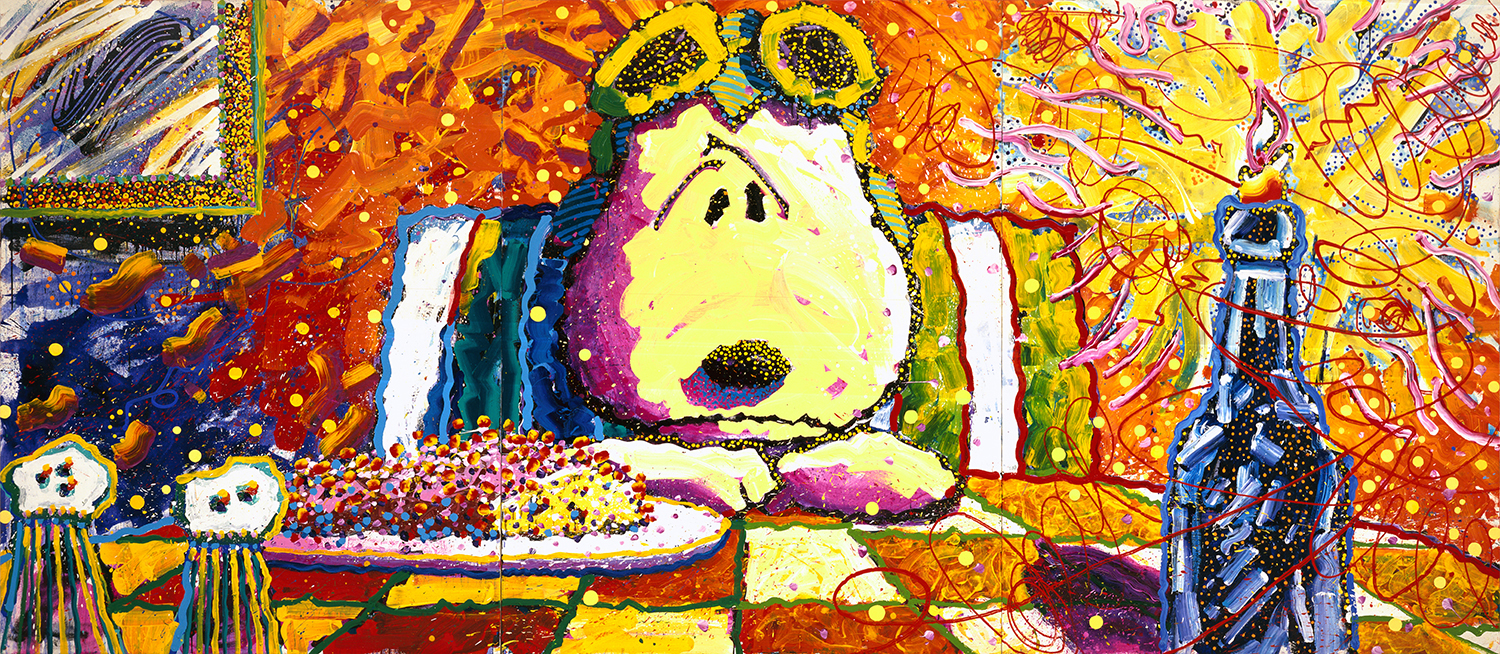"""The Last Supper, (No More Scones For Roy)   84"""" x 192""""   1992"""