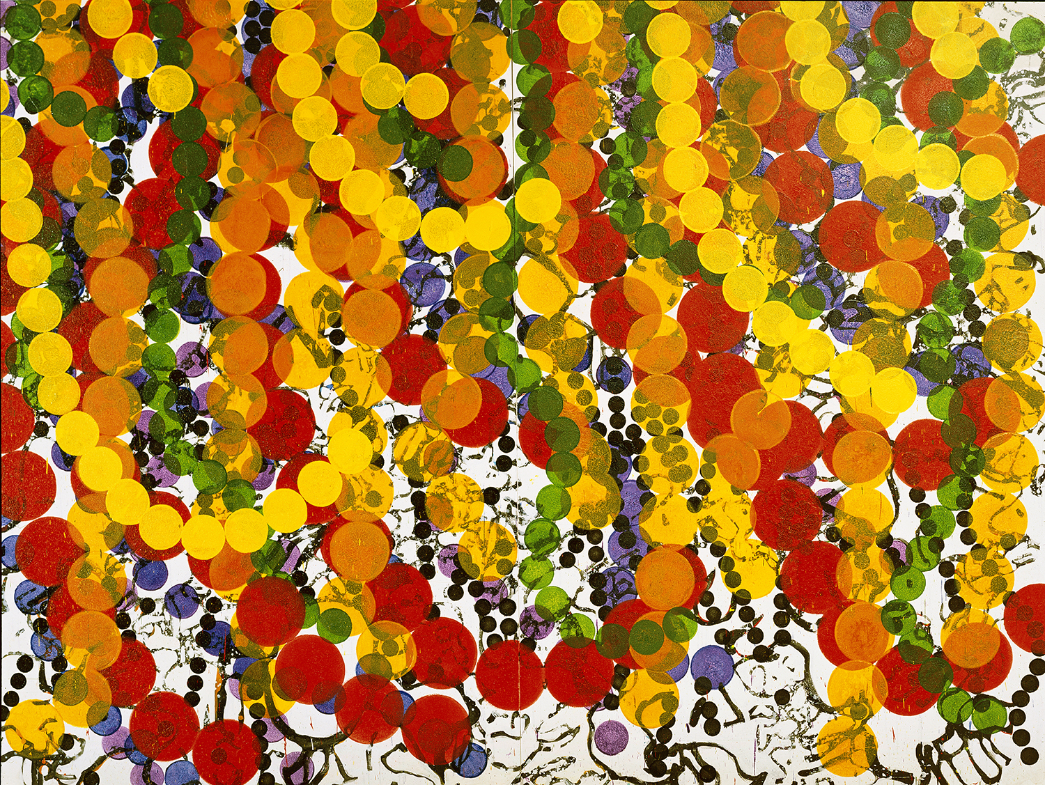 Trapeze (Well Hung) | acrylic and varnish on canvas | 96″ x 128″ | 2002