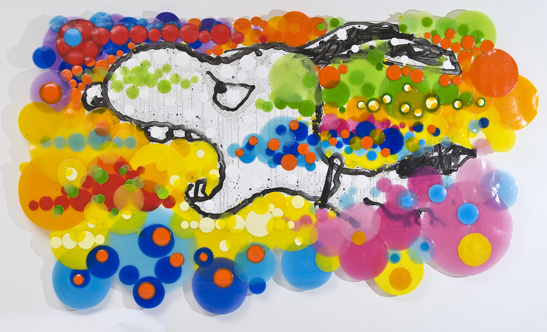 Intermittent Emotional Disorder   acrylic enamel and varnish on wood   70″ x 122″   2006