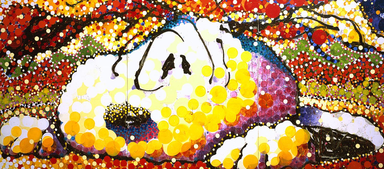I Think I Might Be Sinking | acrylic enamel and varnish on canvas | 84″ x 192″ | 2003