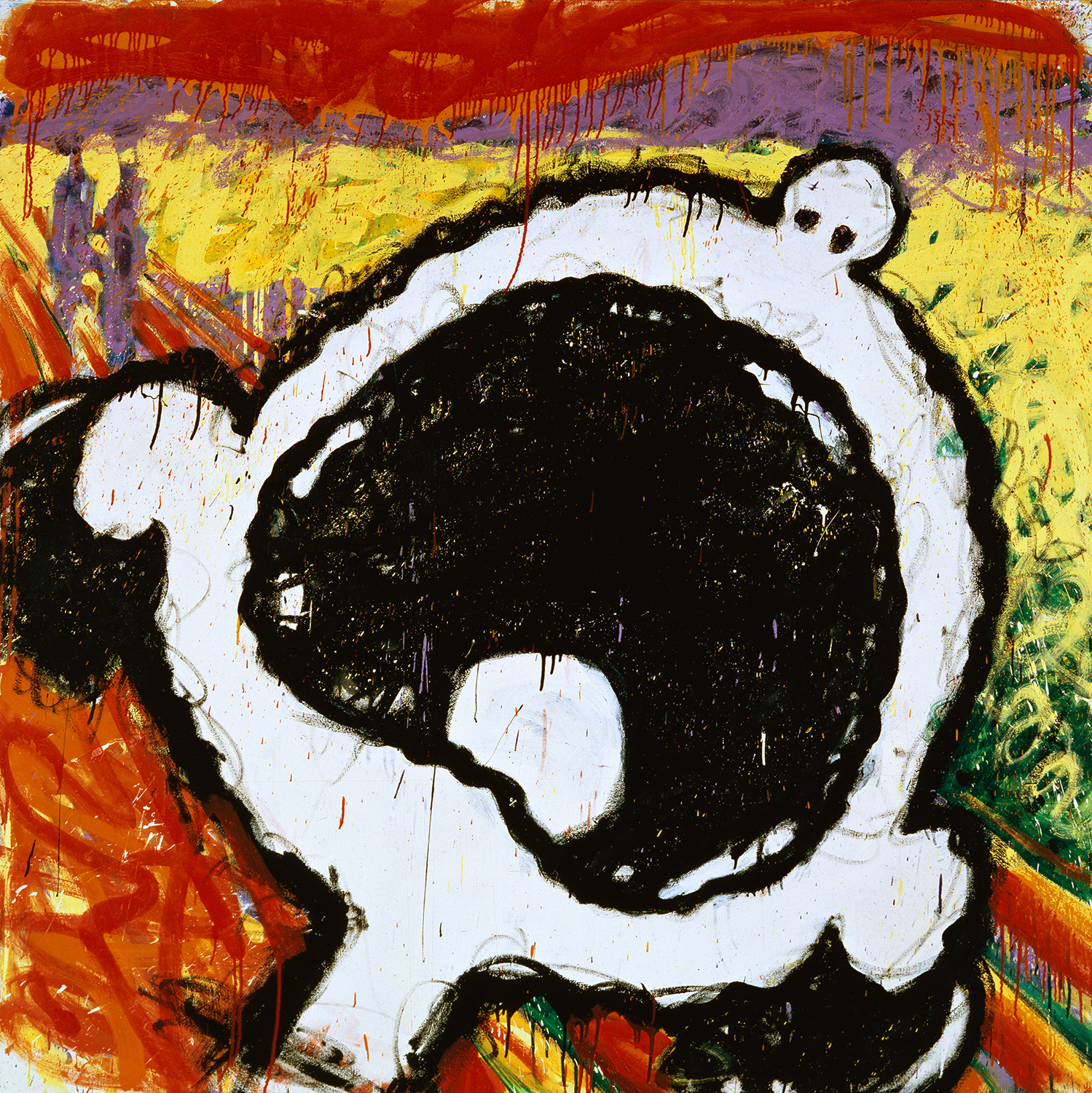The Scream | oil and varnish on canvas | 72″ x 72″ | 1994