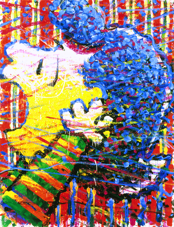 It's My Party And I'll Scream If I Want To   oil enamel and acrylic on canvas   84″ x 64″   1997