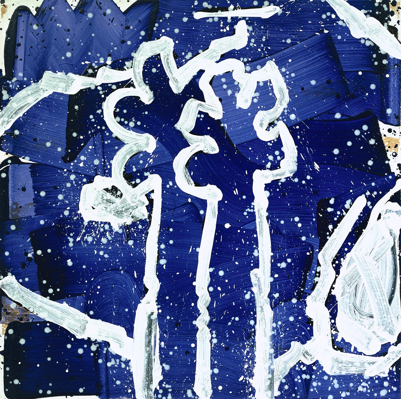 Bonsoir In Bora Bora - Friday | acrylic and enamel on wood | 48″ x 48″ | 2000